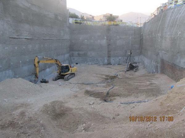 پروژه پایدارسازی گود ساختمان استاندارد